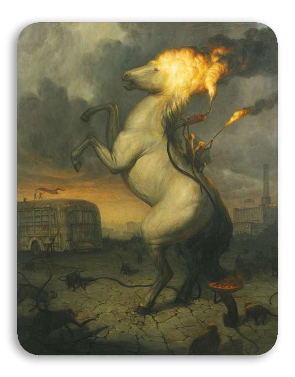 نقاشی شعله های آتش