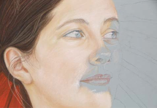 یادگیری نقاشی چهره با مداد رنگی