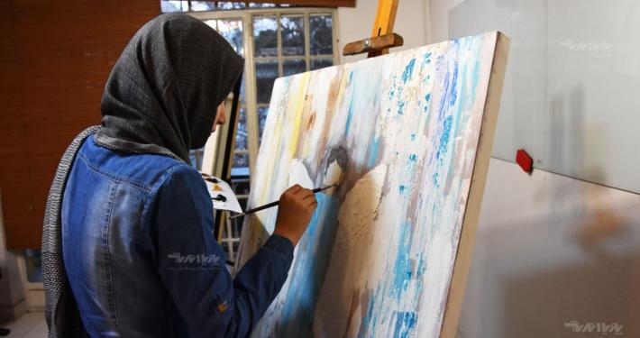 نمونه کار آموزش نقاشی میکس مدیا