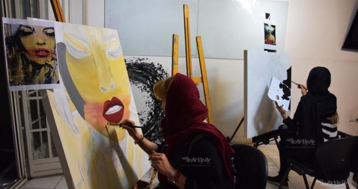 نمونه آموزش نقاشی میکس مدیا
