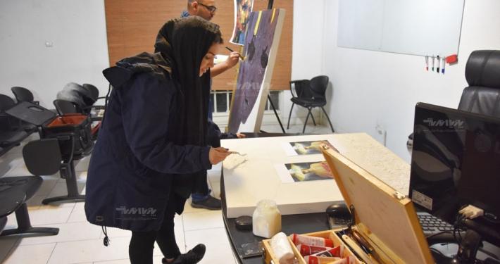 دوره آموزش نقاشی میکس مدیا