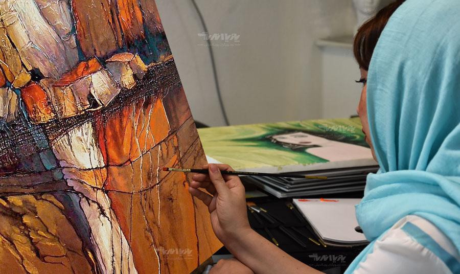 تابلو آموزش نقاشی میکس مدیا