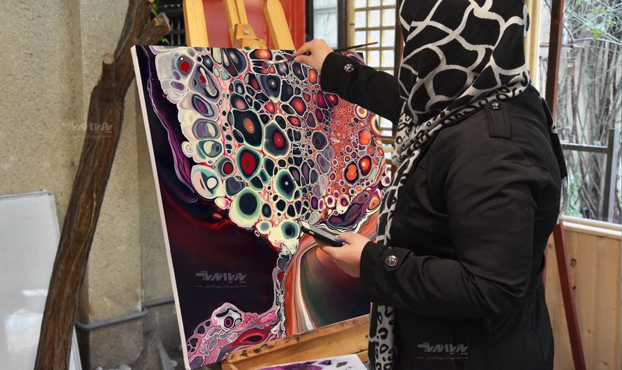 اثر هنرجو آموزش نقاشی میکس مدیا