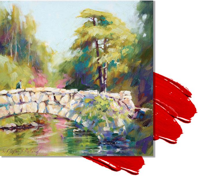 اموزش رایگان نقاشی طبیعت با رنگ روغن