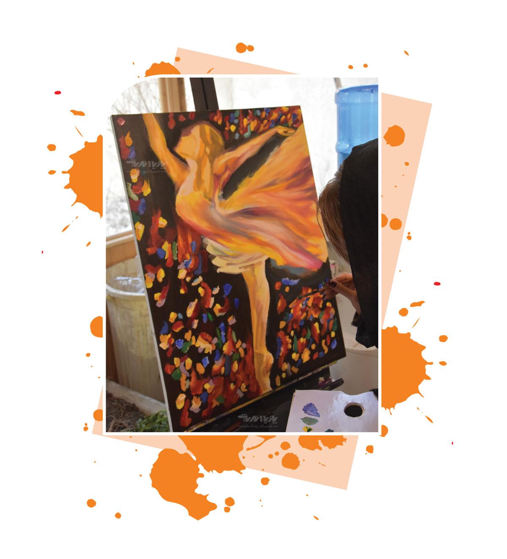 کلاس آموزش نقاشی رنگ روغن