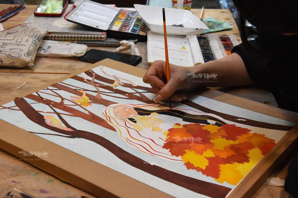 آموزش نقاشی آبرنگ
