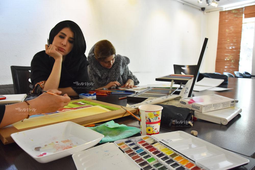 آموزشگاه آموزش نقاشی آبرنگ