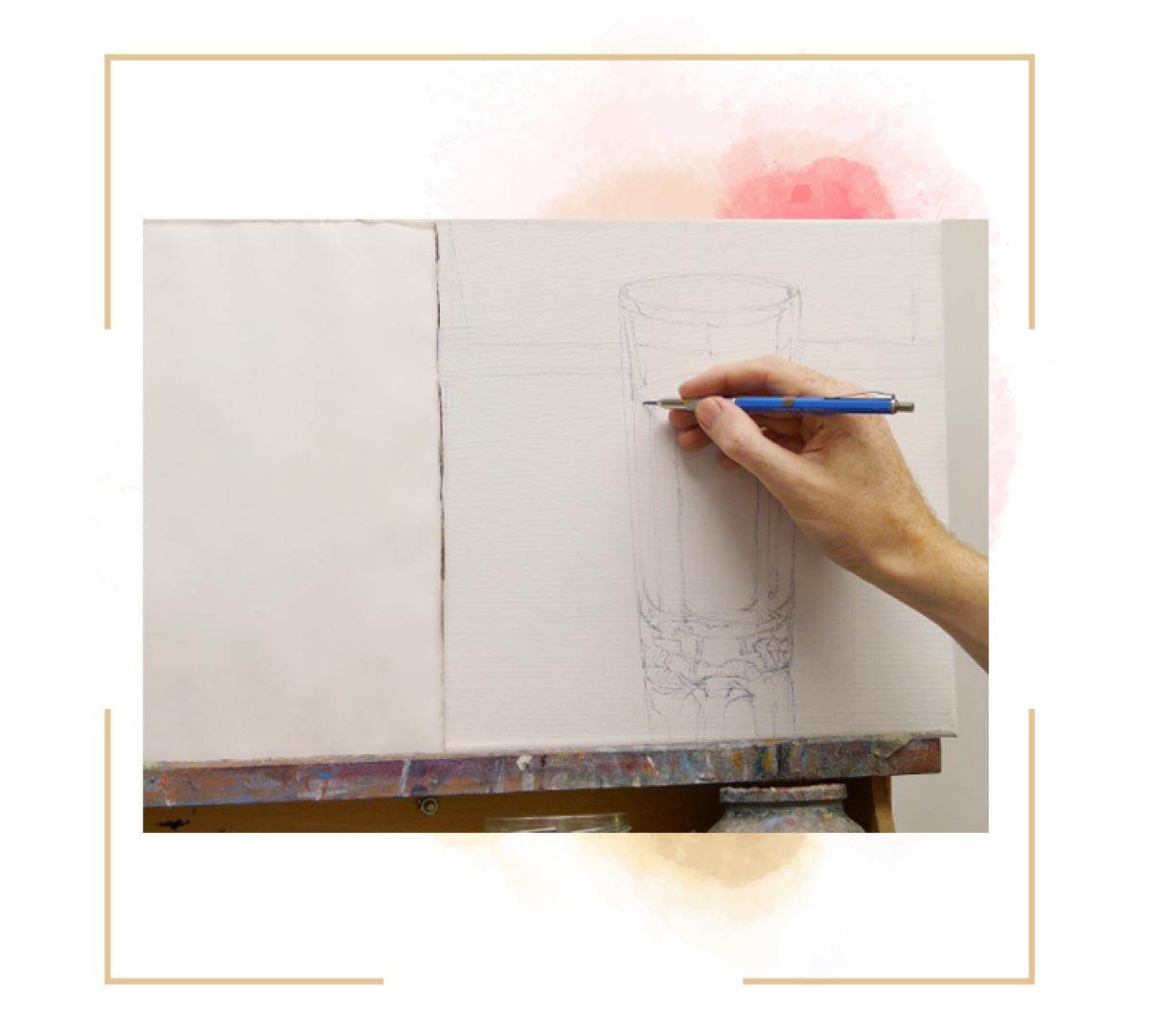 آموزش نقاشی لیوان خطی