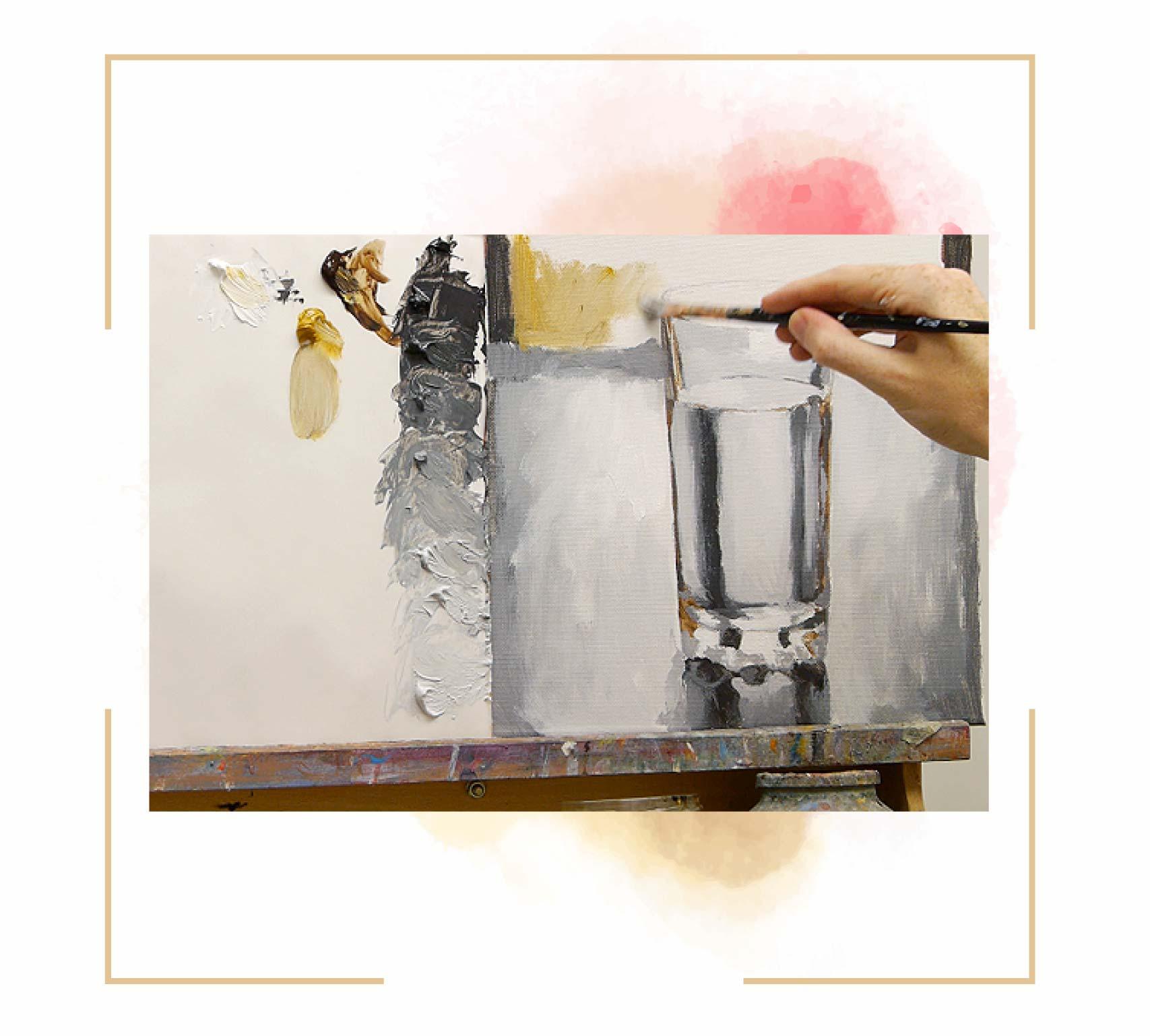 تصاویر آموزش نقاشی لیوان