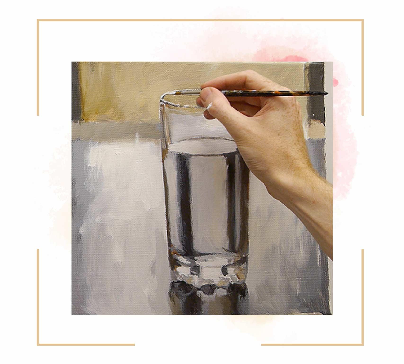 آموزش نقاشی لیوان مرحله به مرحله