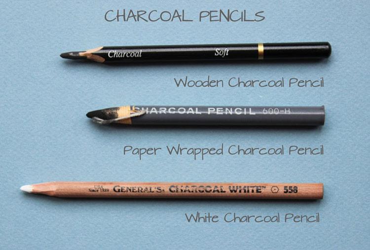 طراحی با مداد زغالی