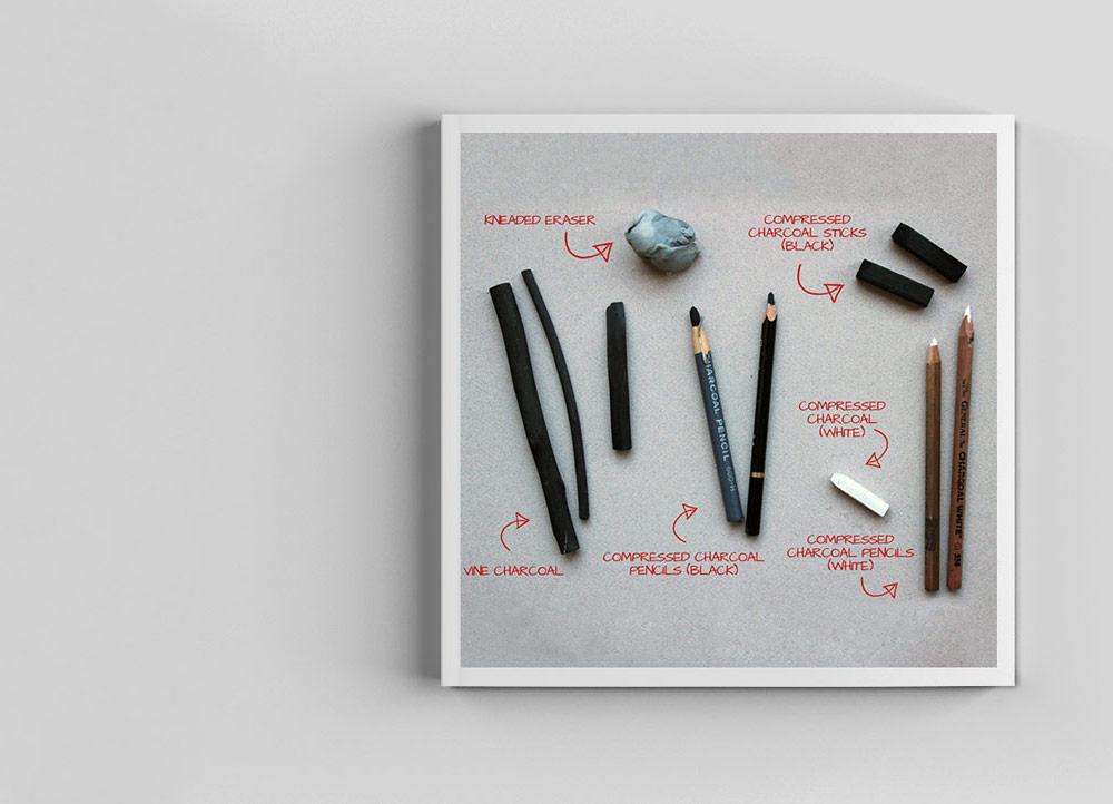 طراحی با زغال